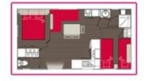 Location mobil home Sabi Primo - chambre - plan