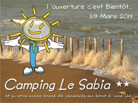 ouverture camping le Sabia oleron