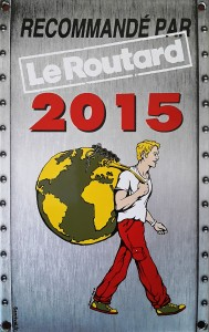 Plaque Guide du Routard 2015